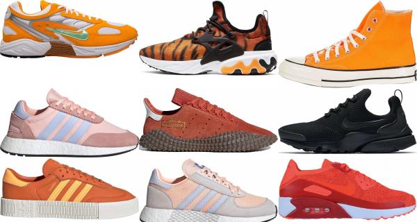 buy orange retro sneakers for men and women