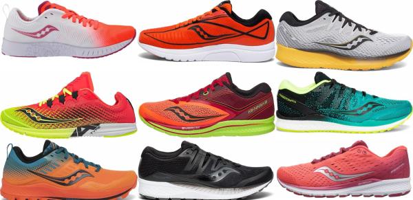 buy orange saucony running shoes for men and women