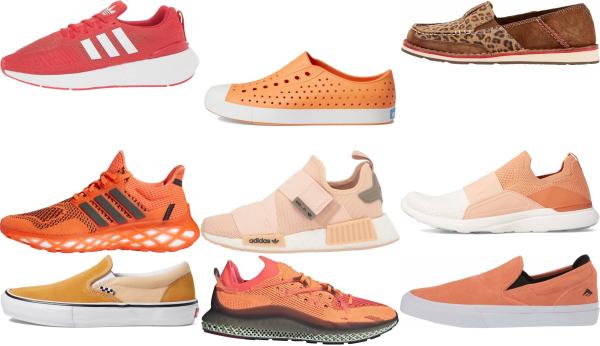 buy orange slip-on sneakers for men and women