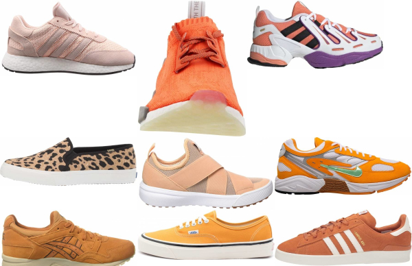 buy orange sneakers for men and women