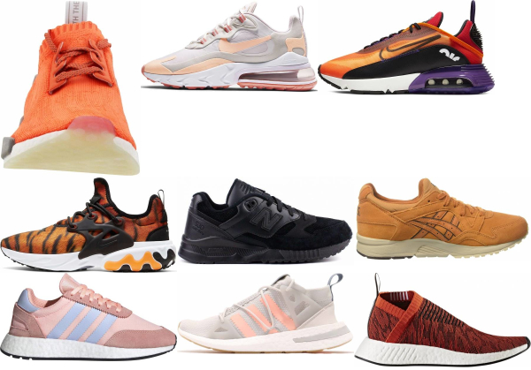 buy orange summer sneakers for men and women