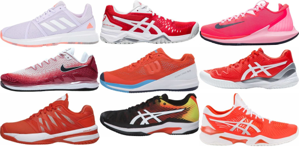 buy orange tennis shoes for men and women