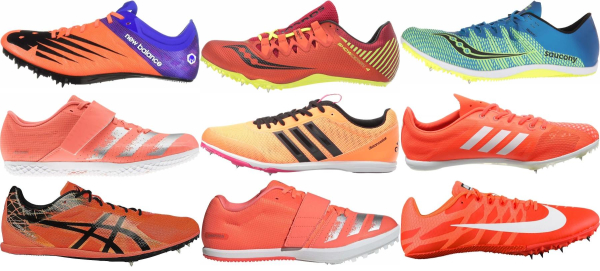 buy orange track & field shoes for men and women