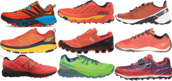 buy orange trail running shoes for men and women