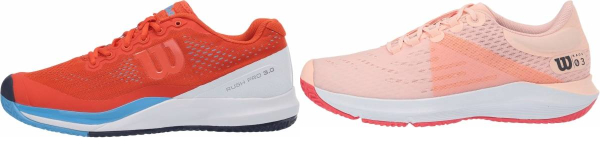 buy orange wilson tennis shoes for men and women