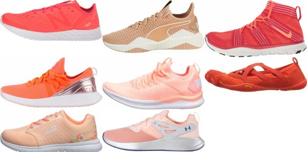 buy orange workout shoes for men and women