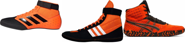 buy orange wrestling shoes for men and women