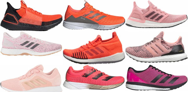 buy pink adidas running shoes for men and women