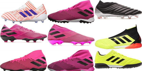 buy pink adidas soccer cleats for men and women