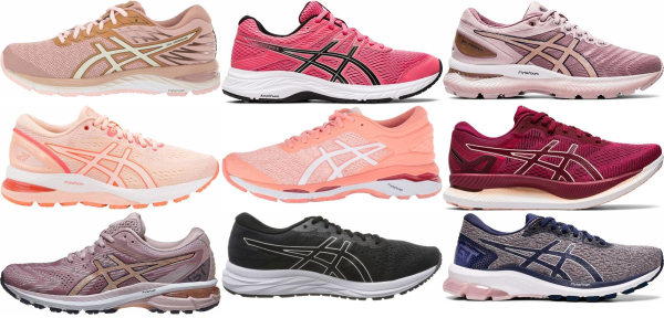 buy pink asics running shoes for men and women
