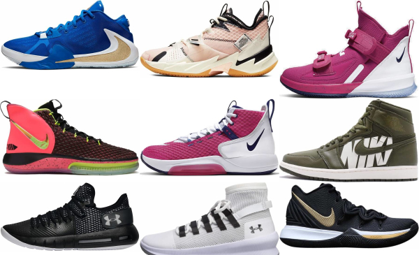 buy pink basketball shoes for men and women