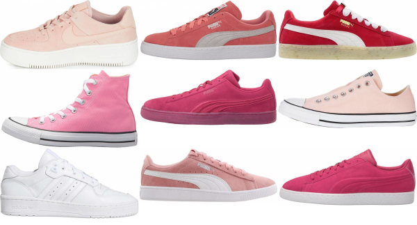 buy pink basketball sneakers for men and women