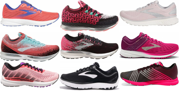 buy pink brooks running shoes for men and women