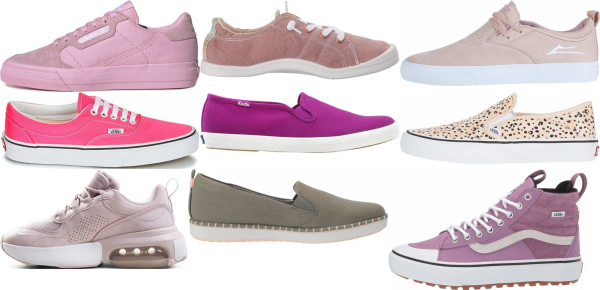 buy pink canvas sneakers for men and women