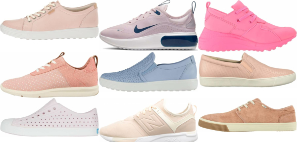 buy pink casual sneakers for men and women