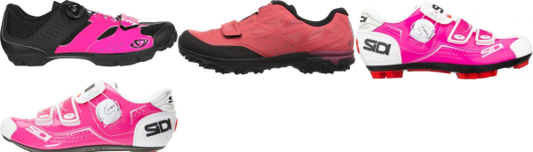 buy pink cycling shoes for men and women