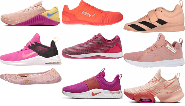buy pink gym shoes for men and women