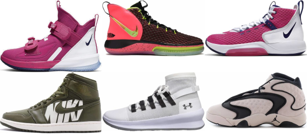 buy pink high basketball shoes for men and women