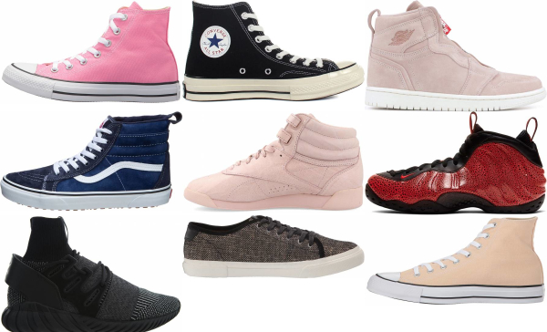 buy pink high top sneakers for men and women