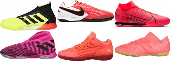buy pink indoor soccer cleats for men and women