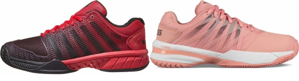 buy pink k-swiss tennis shoes for men and women