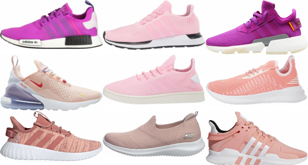 buy pink knit sneakers for men and women