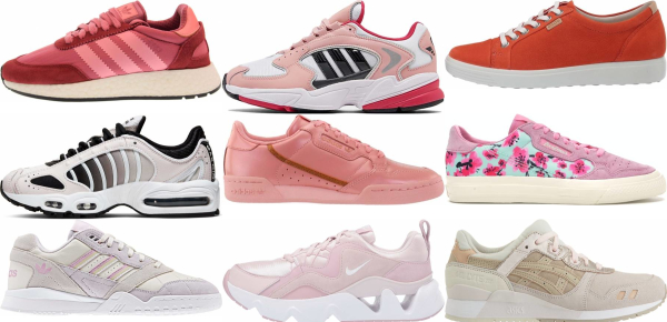 buy pink leather sneakers for men and women