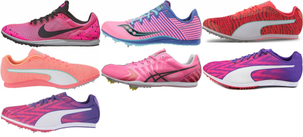 buy pink long distance track & field shoes for men and women