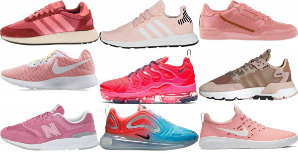 buy pink low top sneakers for men and women
