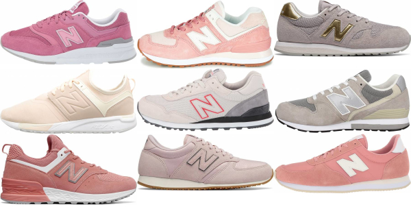 buy pink new balance sneakers for men and women