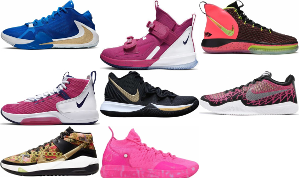buy pink nike basketball shoes for men and women