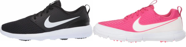 buy pink nike golf shoes for men and women