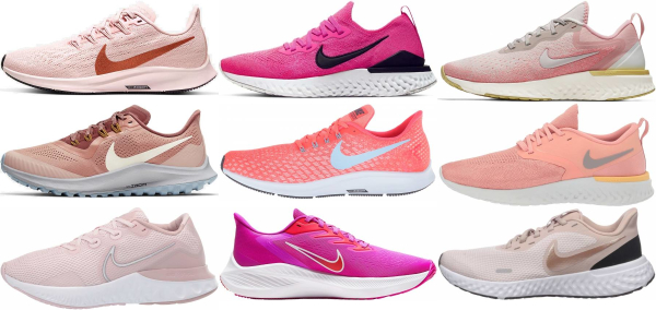 buy pink nike running shoes for men and women