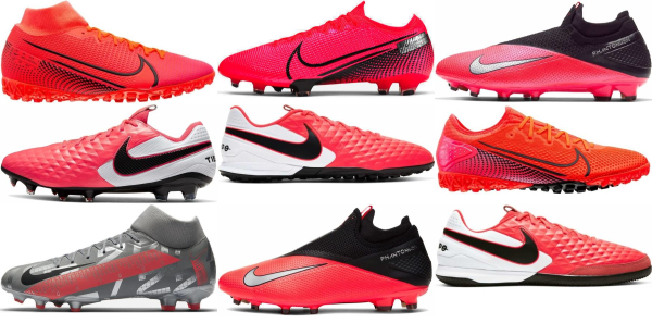 buy pink nike soccer cleats for men and women