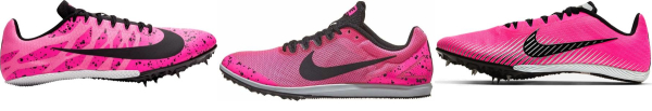 buy pink nike track & field shoes for men and women