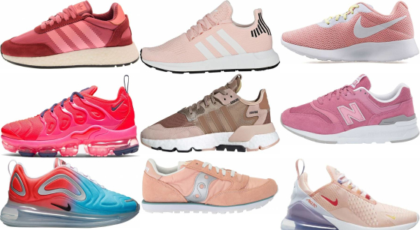 buy pink running sneakers for men and women