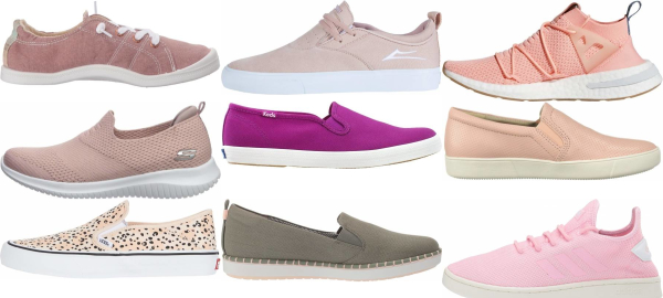 buy pink slip-on sneakers for men and women