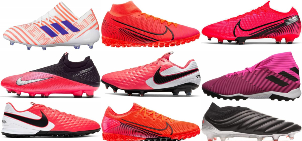 buy pink soccer cleats for men and women