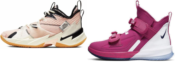 buy pink strap basketball shoes for men and women