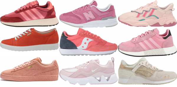 buy pink suede sneakers for men and women