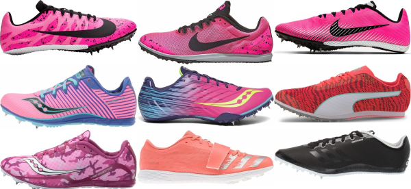 buy pink track & field shoes for men and women