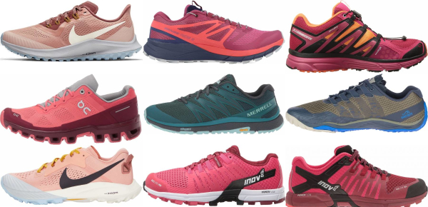 buy pink trail running shoes for men and women