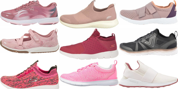 buy pink walking shoes for men and women