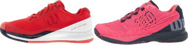 buy pink wilson tennis shoes for men and women