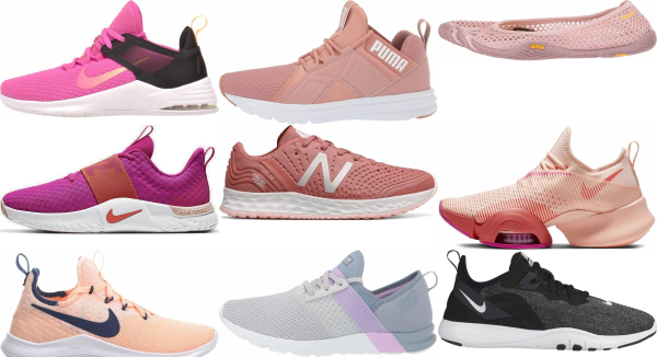 buy pink workout shoes for men and women