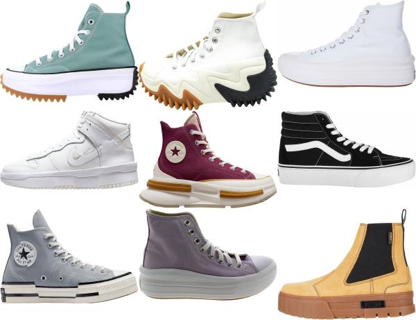 buy platform high top sneakers for men and women