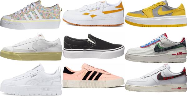 buy platform low top sneakers for men and women