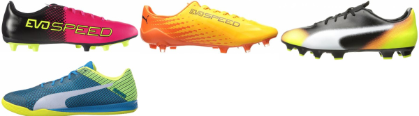 buy puma evospeed soccer cleats for men and women