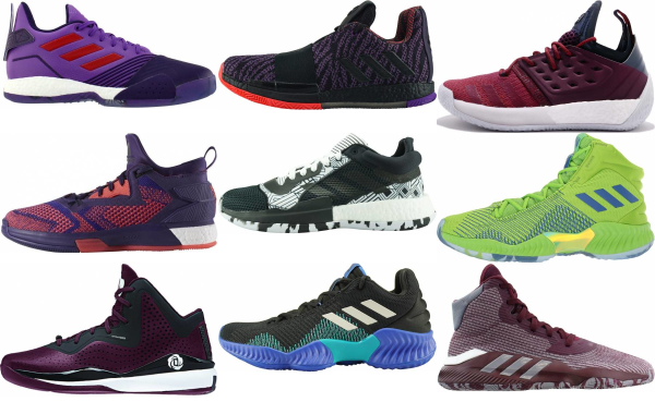 buy purple adidas basketball shoes for men and women