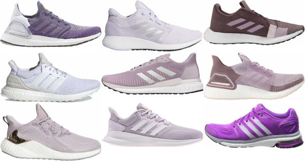 buy purple adidas running shoes for men and women